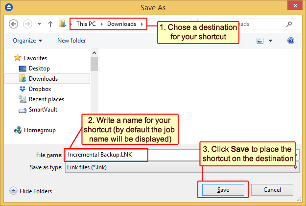 How to create a shortcut