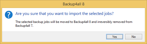 import backup job