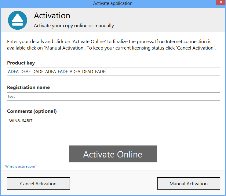 Backup4all 5 - Online Activation 2