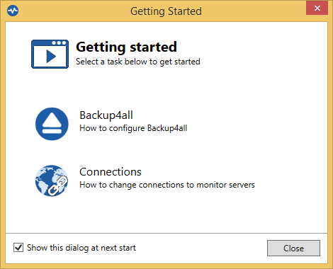 Backup4all Monitor - Getting Started