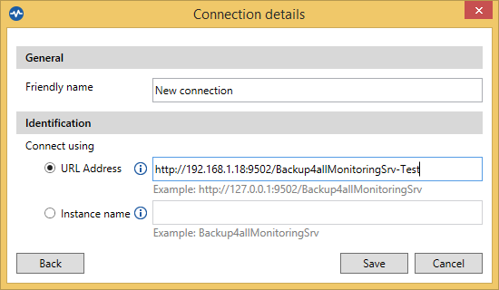 Backup4all Monitor - Remote connection