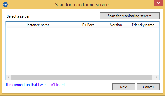 Backup4all Monitor - Scan for servers