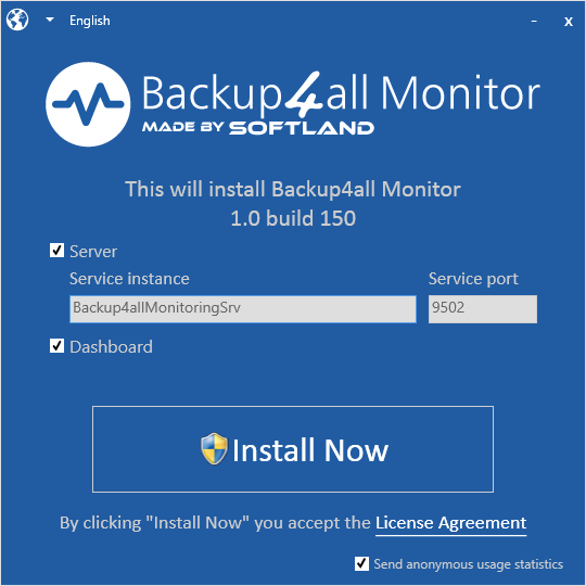 Backup4all Monitor - Install Backup4all Monitor