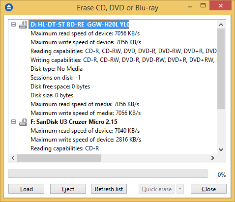 erase cd dvd bluray