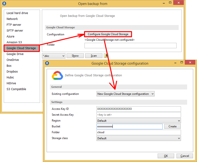 google cloud storage image c