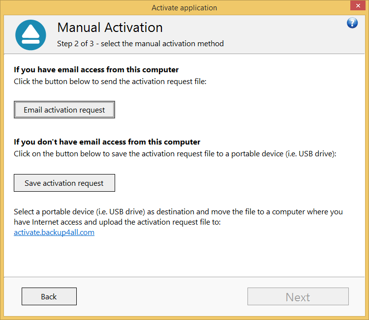 Backup4all 6 - Manual Activation 6