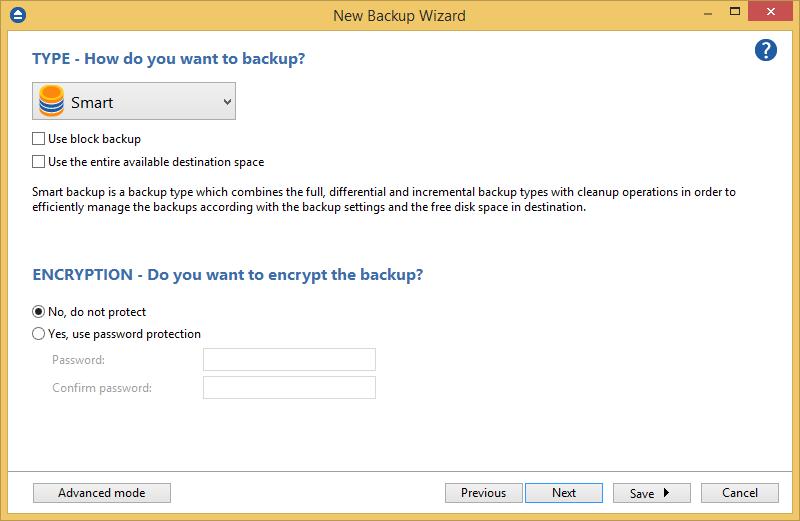 OneDrive - Backup Type