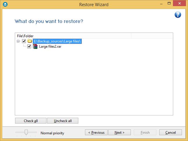 selective restore