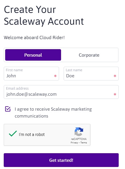 Scaleway image a