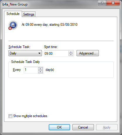 backup scheduler