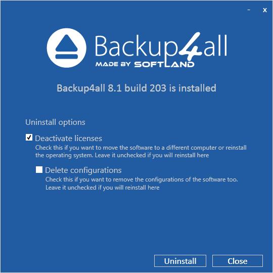 uninstall-backup4all